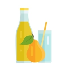 Pear juice concept vector