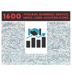 Acquisition graph icon with large pictogram vector