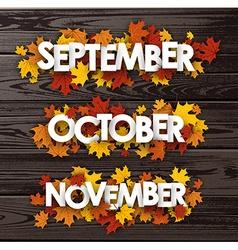 Autumn banners on wooden texture vector