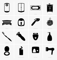 bathroom objects vector image vector image