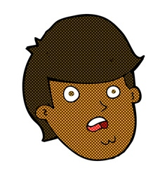 Comic cartoon man with big chin vector