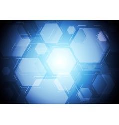 Dark blue tech backdrop vector