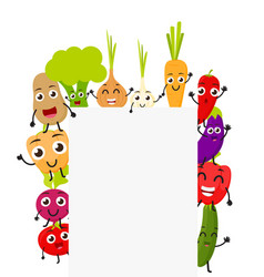 funny cartoon vegetables vector image vector image
