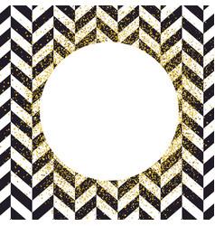 invitation card design template chevron black vector image vector image