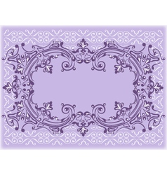 lilac frame vector image vector image