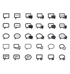 message speech bubbles talk icons vector image vector image