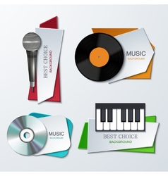 modern music banners set vector image vector image