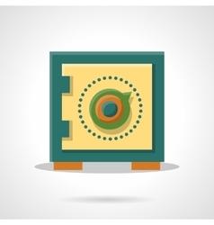Money storage flat color icon vector image