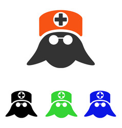 Nurse head flat icon vector