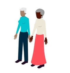 Old lesbian isometric couple vector image vector image