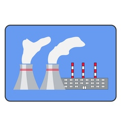 Power plant icon flat style in the frame vector