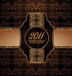 royal invitation vector image