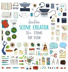 Scene creator set vector