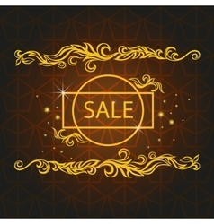 Shiny sale card pattern baroque ornament vector image vector image