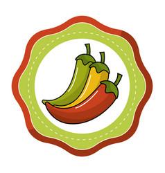 sticker chili pepper vegetable icon vector image