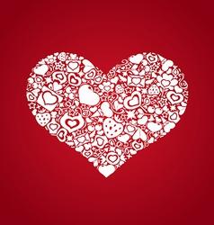 Valentites heart objects white vector