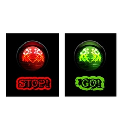 Red and green traffic light vector