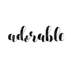 Adorable brush lettering vector