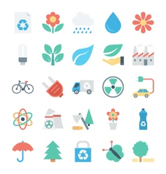 Nature and ecology colored icons 2 vector