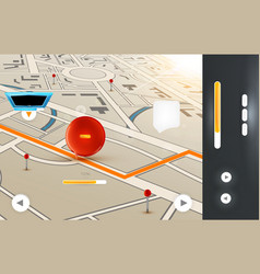 GPS Background for Design vector image