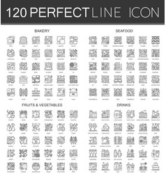 120 outline mini concept infographic symbol icons vector
