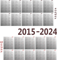 Calendar 2015 2024 380x400 vector
