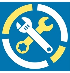 Tools diagram icon vector