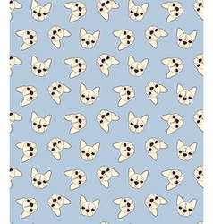 Seamless doodle vintage pattern with a bulldog vector