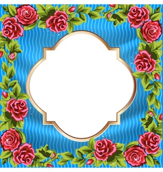 Frame rose border vector