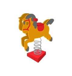 Rocking horse cartoon icon vector