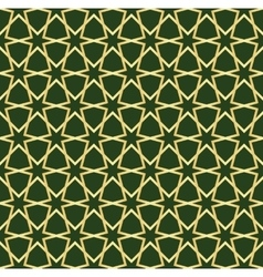 gold and green moroccan seamless vector image