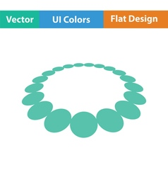 Beads icon vector