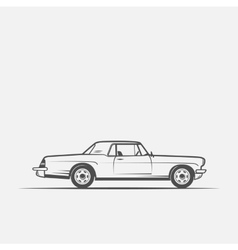 Old american car in vintage style vector