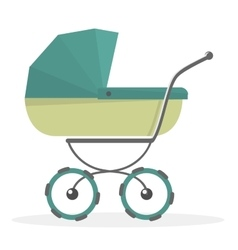 Baby stroller isolated on white background vector