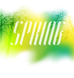 Beautiful spring background with trees elegant vector image