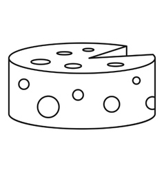 Cheese icon outline style vector