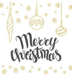Christmas card design with lettering Merry vector image vector image