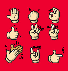 comic cartoon hand gesture vector image