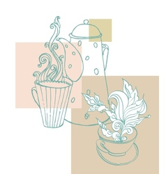 cup of aromatic tea vector image vector image