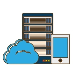 Database hosting and tuning smartphone image vector