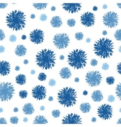 Denim Blue Textured Dots Circles Seamless vector image vector image