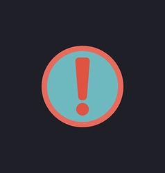 Exclamation computer symbol vector image