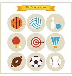 Flat Sport and Recreation Icons Set vector image vector image