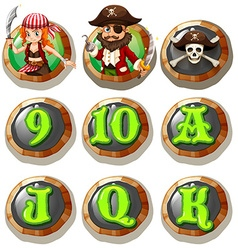 Game characters and numbers on token vector