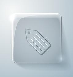 Glass square icon label vector