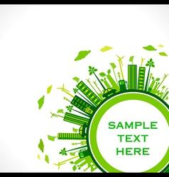 go green earth or green city save earth concept vector image