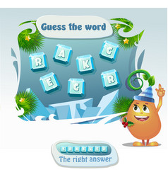 Guess the word cracker vector