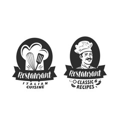 Logo of restaurant eatery diner bistro label vector