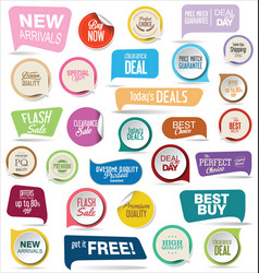 modern badges colorful collection 3 vector image vector image