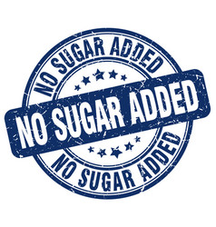 No sugar added blue grunge stamp vector